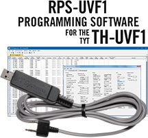 RPS-UVF1 Programming Software and USB-K4Y cable for the TYT TH-UVF1