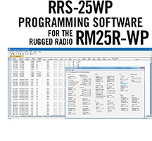 RRS-25WP Programming Software Only for the Rugged Radios RM25R-WP