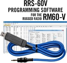 RRS-60V Programming Software and USB-29A cable for the Rugged Radios RM60-V