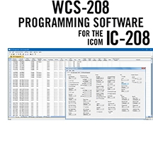 WCS-208 Programming Software Only for the Icom IC-208