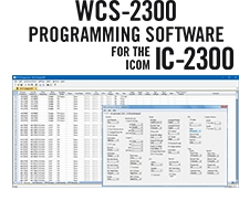 WCS-2300  Programming Software Only for the Icom IC-2300