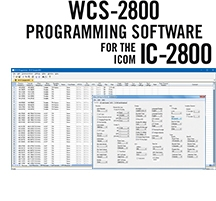 WCS-2800 Programming Software Only for the Icom IC-2800