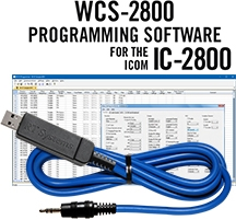 WCS-2800 Programming Software and USB-29A cable for the Icom IC-2800