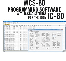 WCS-80 Programming Software Only for the Icom IC-80
