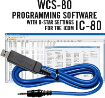 WCS-80 Programming Software and USB-29A cable for the Icom IC-80