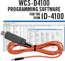 WCS-D4100 Programming Software and RTS05 data cable for the Icom ID-4100