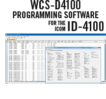 WCS-D4100 Programming Software Only for the Icom ID-4100