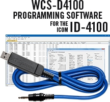 WCS-D4100 Programming Software and USB-29A cable for the Icom ID-4100