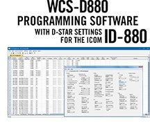 WCS-D880 Programming Software Only for the Icom ID-880