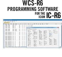 WCS-R6 Programming Software Only for the Icom IC-R6