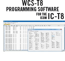 WCS-T8 Programming Software Only for the Icom IC-T8