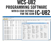 WCS-U82 Programming Software Only for the Icom IC-U82