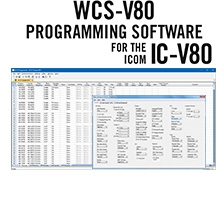 WCS-V80 Programming Software Only for the Icom IC-V80