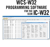 WCS-W32 Programming Software Only for the Icom IC-W32