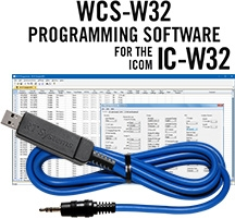 WCS-W32 Programming Software and USB-29A cable for the Icom IC-W32