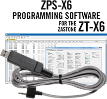 ZPS-X6 Programming Software and USB-K4Y cable for the Zastone ZT-X6