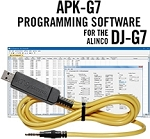 APK-G7 Programming Software and USB-57B cable for the Alinco DJ-G7
