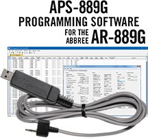 APS-889G Programming Software and USB-K4Y cable for the Abbree AR-899G radio.