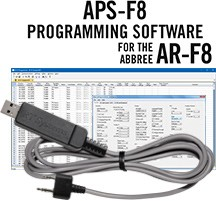 APS-ARF8 Programming Software and USB-K4Y cable <Br> for the Abree AR-F8