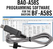 BAO-A58S Programming Software and USB-K4Y cable for the<br> Baofeng BF-A58S