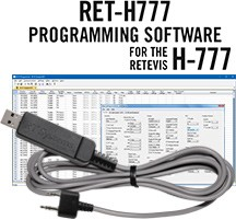 RET-H777 Programming Software and USB-K4Y cable for the Retevis H-777