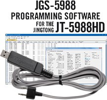 JGS-5988 Programming Software and USB-K4Y cable for the Jingtong JT-5988