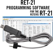 RET-21 Programming Software and USB-K4Y cable for the Retevis RT-21