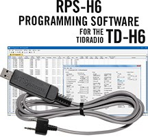 RPS-H6-USB Programming Software and USB-K4Y cable  for the TIDRadio TD-H6 radio.