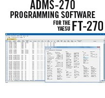 ADMS-270 Programming Software Only for the Yaesu FT-270