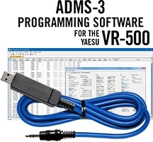 ADMS-3 Programming Software and USB-29A cable for the Yaesu VR-500