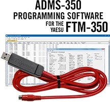 ADMS-350 Programming Software and USB-81 cable for the Yaesu FTM-350