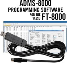 ADMS-8000 Programming Software and USB-29B cable for the Yaesu FT-8000