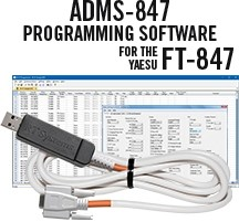 ADMS-847 Programming Software and USB-65 cable for the Yaesu FT-847