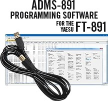 ADMS-891 Programming Software and RT-42 cable for the Yaesu FT-891