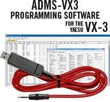 ADMS-VX3 Programming Software  and USB-57A cable for the Yaesu VX-3