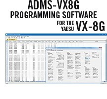 ADMS-VX8G Programming Software Only for the Yaesu VX-8G