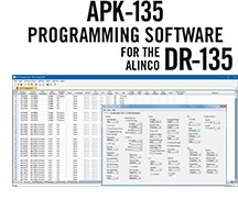 APK-135 Programming Software Only for the Alinco DR-135T