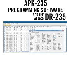 APK-235 Programming Software Only for the Alinco DR-235