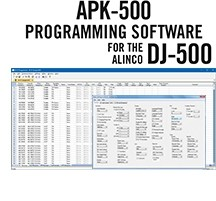 APK-500 Programming Software Only for the Alinco DJ-500