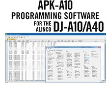 APK-A10/A40 Programming Software Only for the Alinco DJ-A10/A40