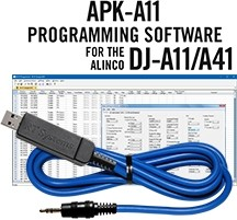 APK-A11 Programming Software and USB-29A cable for the Alinco DJ-A11/A41