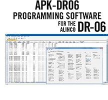 APK-DR06 Programming Software Only for the Alinco DR-06