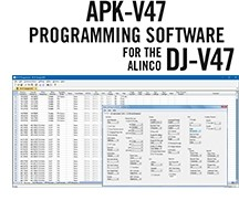 APK-V47 Programming Software Only for the Alinco DJ-V47