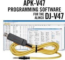 APK-V47 Programming Software and USB-57B cable for the Alinco DJ-V47