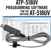 ATP-518UV Programming Software and USB-K4Y cable for the AnyTone AT-518UV