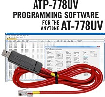 ATP-778 Programming Software and USB-A5R cable for the AnyTone AT-778
