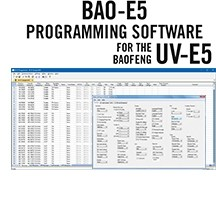 BAO-E5 Programming Software Only for the UV-E5 and UV-E5 MKII HTs