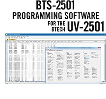 BTS-2501 Programming Software Only for the BTech UV-2501 radio.
