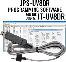 JPS-UV8DR Programming Software and USB-K4Y cable for the Juentai  JT-UV8DR