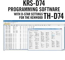KRS-D74 Programming Software Only for the Kenwood TH-D74